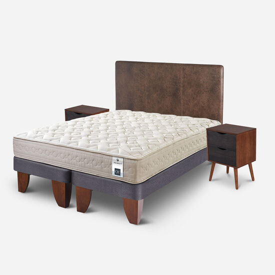 Cama Europea 2 Plazas Balance 1 Base Dividida + Set Baker