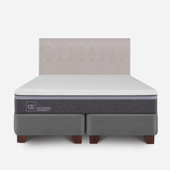 Box Spring King Ortopedic Advance + Respaldo Tigris
