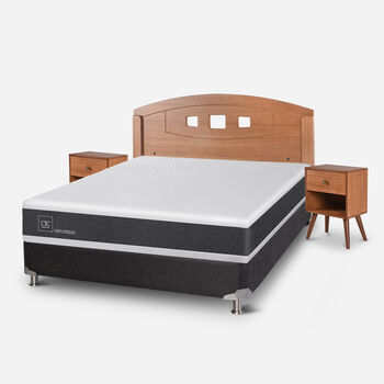 Box Spring 2 Plazas Ortopedic Base Normal 5 Zonas + Set Gales
