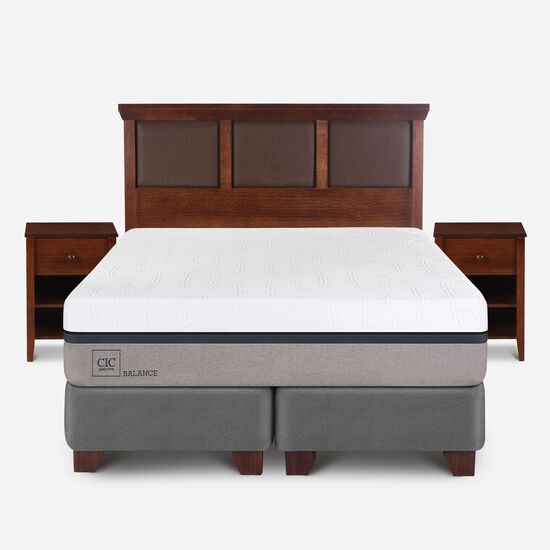 Box Spring King Balance + Set Torino Caramel