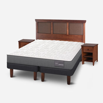 Cama Europea King Anatomic + Set Torino Caramel