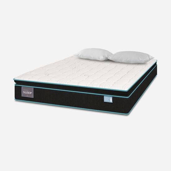Colchón 2 Plazas 150x200 Green Sleep + Almohadas Viscoelásticas + Plumón