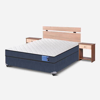 Cama Americana Full Excellence + Set Olmo