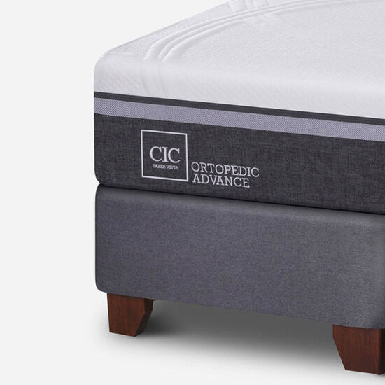 Box Spring King Ortopedic Advance + Set Torino Choc