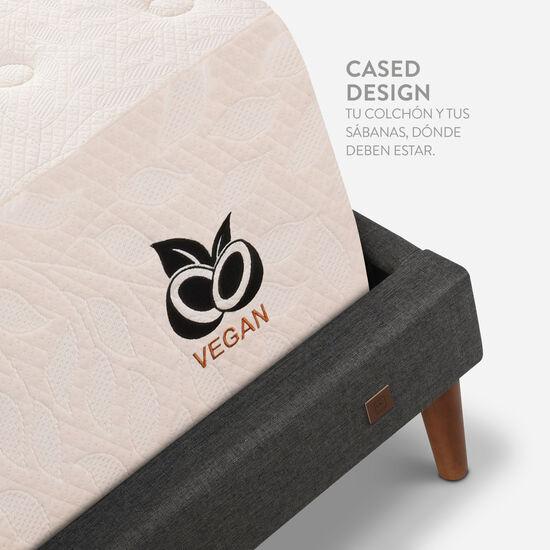 Cama Europea Curve King Cocopedic + Set Torino Caramel