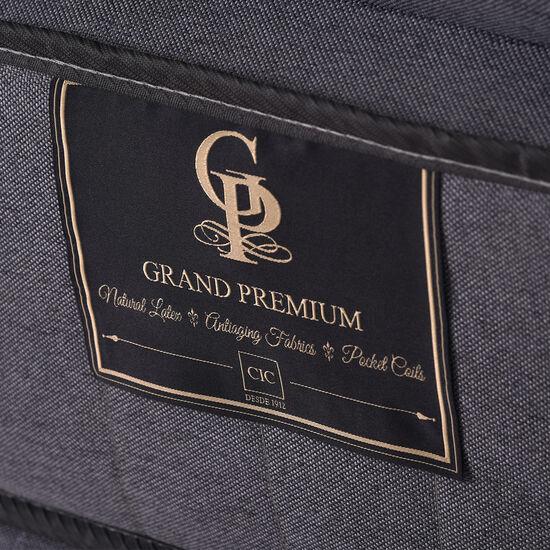 Cama Europea 2 Plazas Grand Premium Base Dividida + Respaldo Kavery