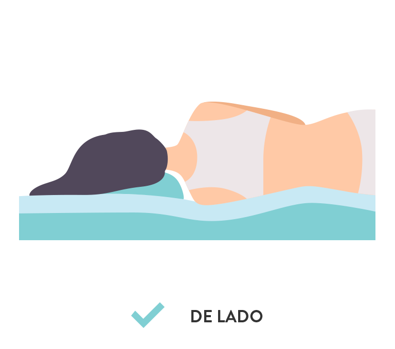 Almohada Fibra Side Relax CIC, Ideal para Dormir de Costado