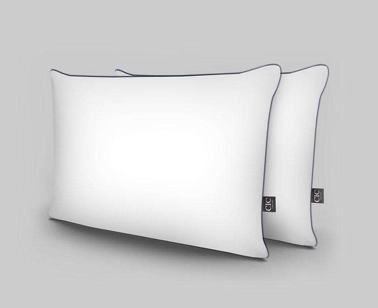 Almohada rellena 100% con pluma de ganso y funda de algodón, ideal para dormir en cualquier posición